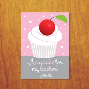 A Cupcake for My Teacher Valentine- Cupcake EOS Valentine