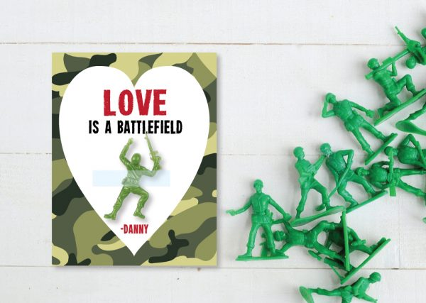 Love is a Battlefield Valentine's- Army Figures