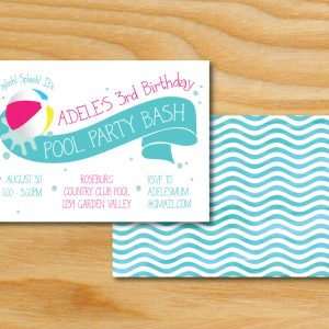 Beach Ball Birthday Party Invitation (Splish Splash)