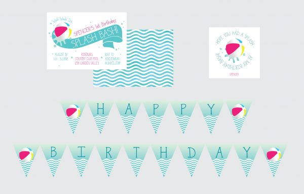 Splish Splash Party Printables