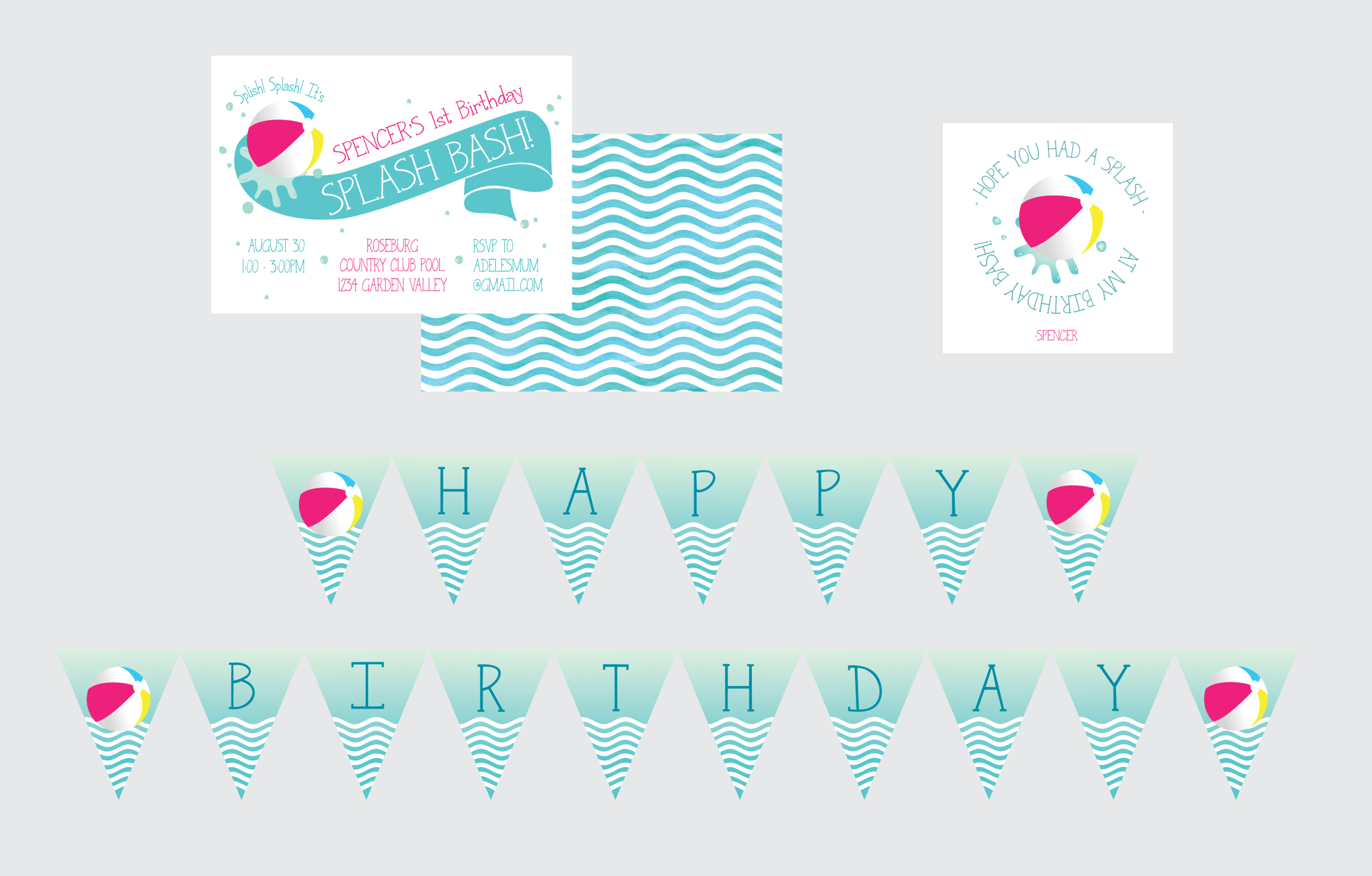 graphic relating to Pool Party Printable known as Seaside Get together Printables- Pool Occasion Printables