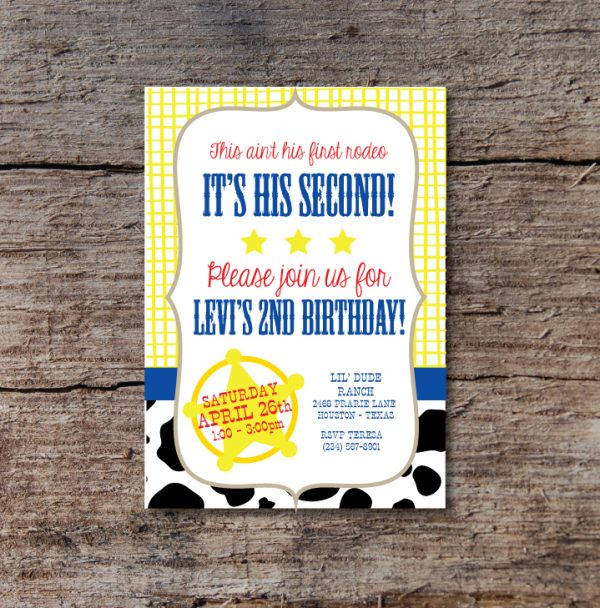 Western Birthday Party Invitation (Toy Story Inspired)/ Cowboy Invitation