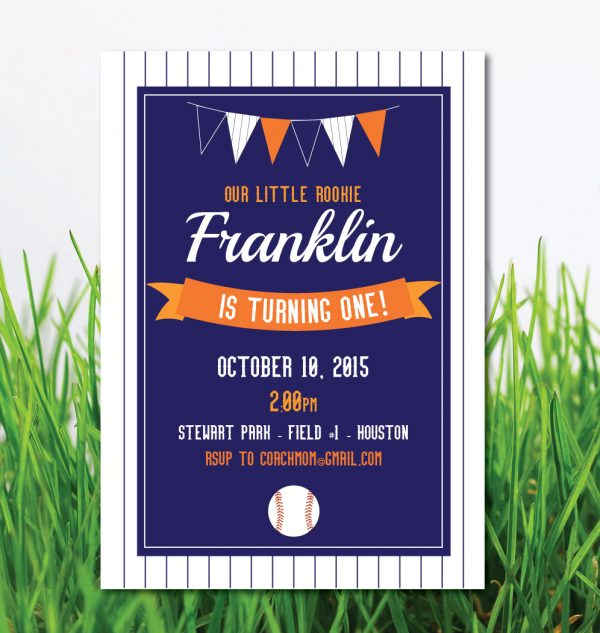 Vintage Baseball Birthday Party Invitation