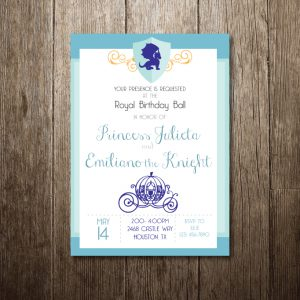 Princess Carriage Birthday Party Invitation