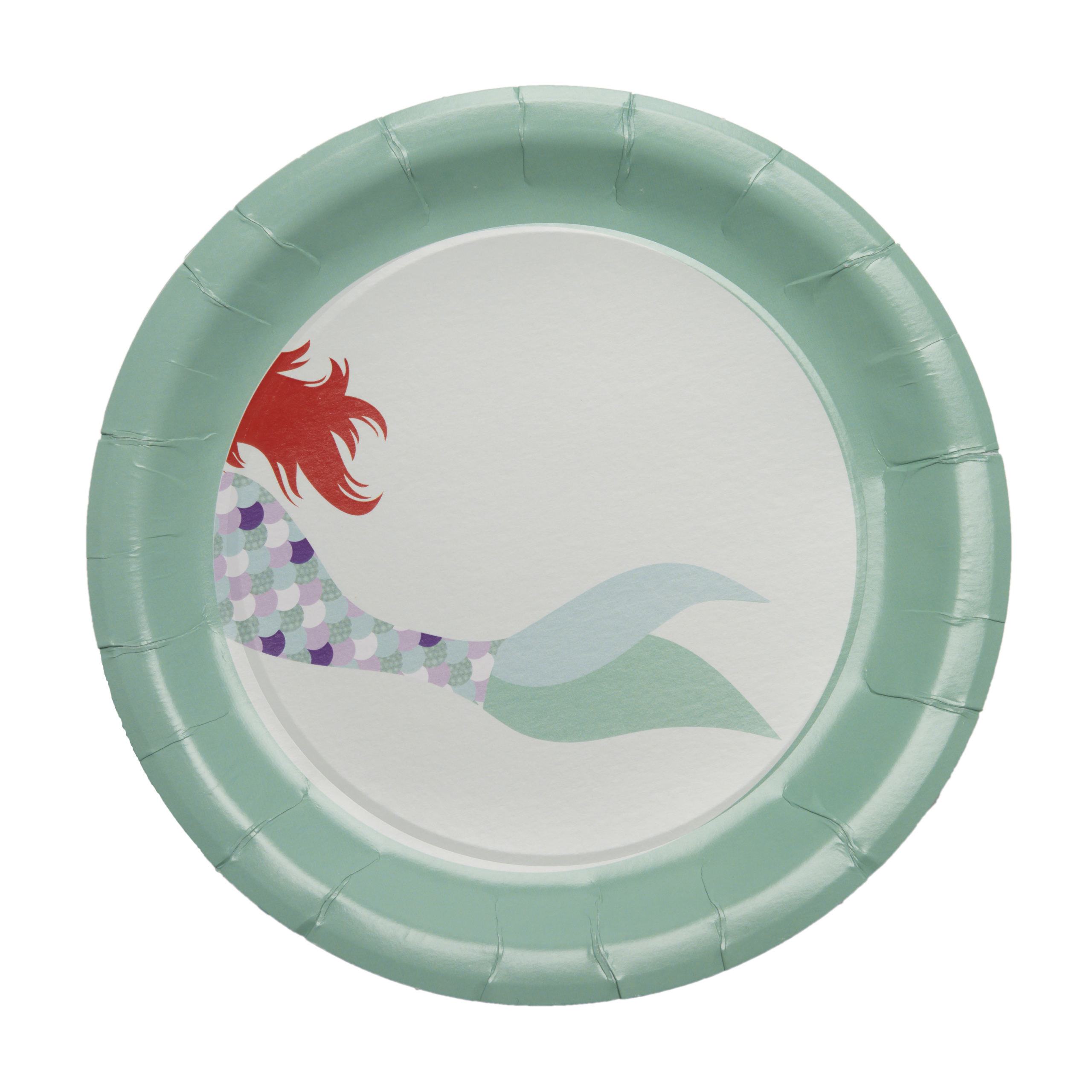Mermaid Paper Plates Party Supplies- (Dinner) - Crowning Details