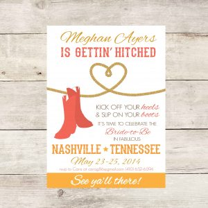 Western Bachelorette Party Invitation