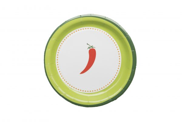 Fiesta Red Peppers Paper Plates