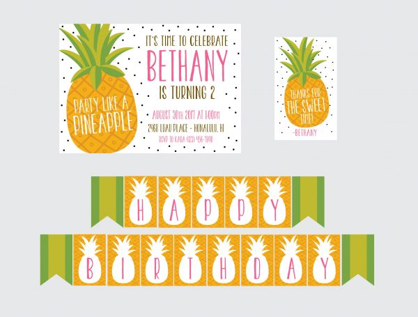 Pineapple Party Invitation