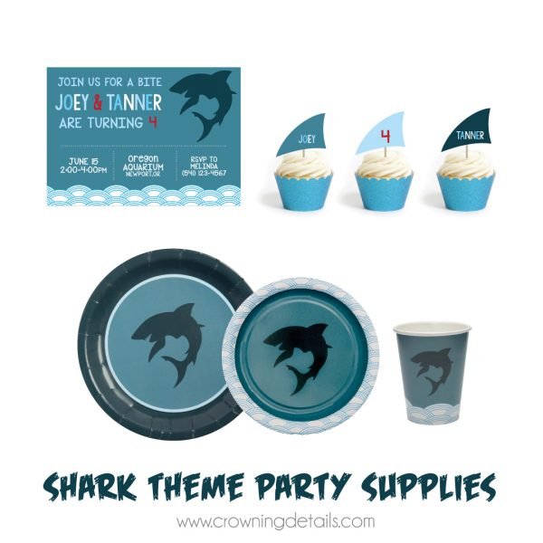 Shark Party Paper Plates