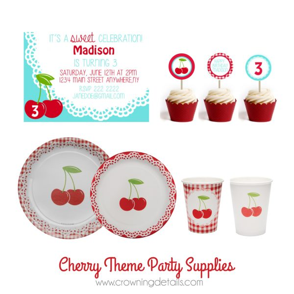 Cherries Paper Cups
