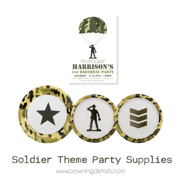 Camo Paper Plates- Toy Soldier Paper Plates