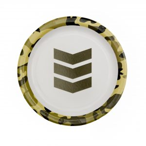 Camo Paper Plate- Toy Soldier Paper Plate