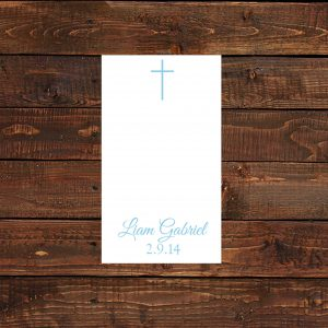 Blue Cross Baptism Prayer Cards