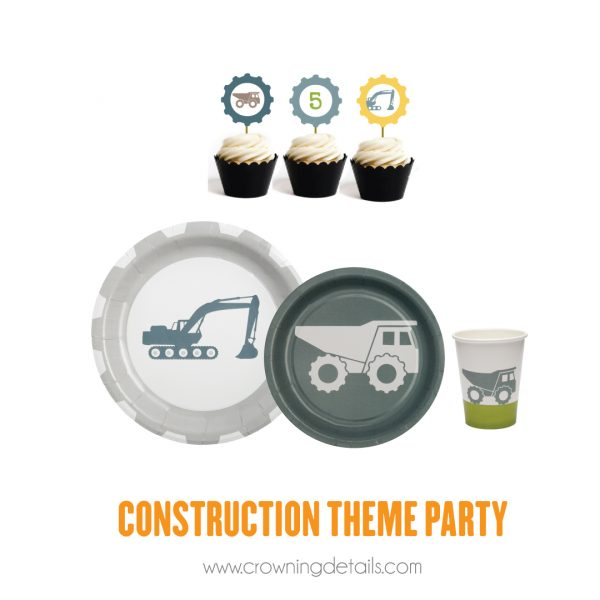 Construction Party Paper Plates