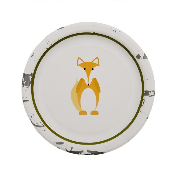 Woodland Animals Paper Plates