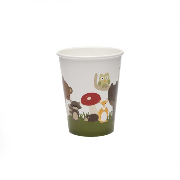 Woodland Animal Paper Cups
