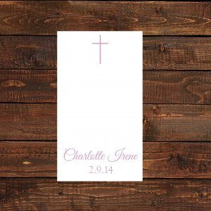 Pink Cross Prayer Cards