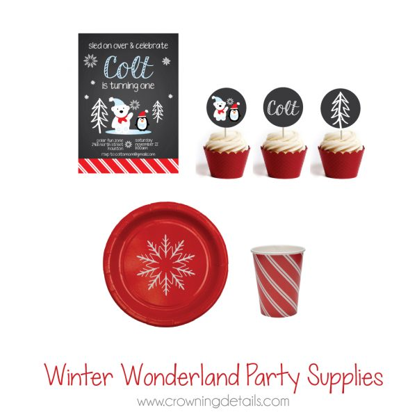 Winter Wonderland Paper Cups- Candy Cane Paper Cups