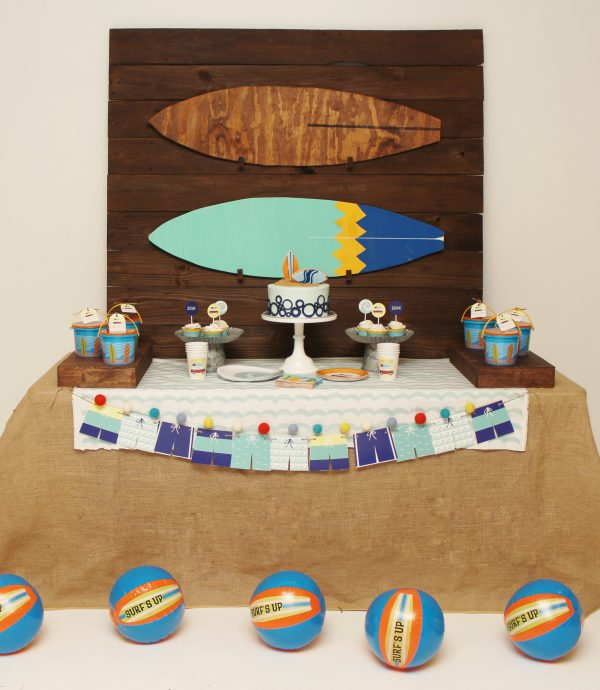 Surfer Party Supplies- Surfboard Party Supplies