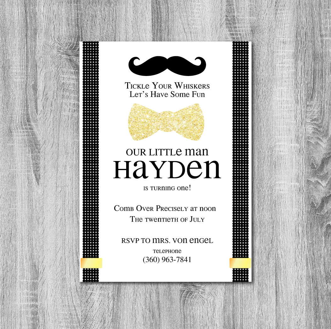 Mr. Onederful Birthday Party Invitation - Crowning Details