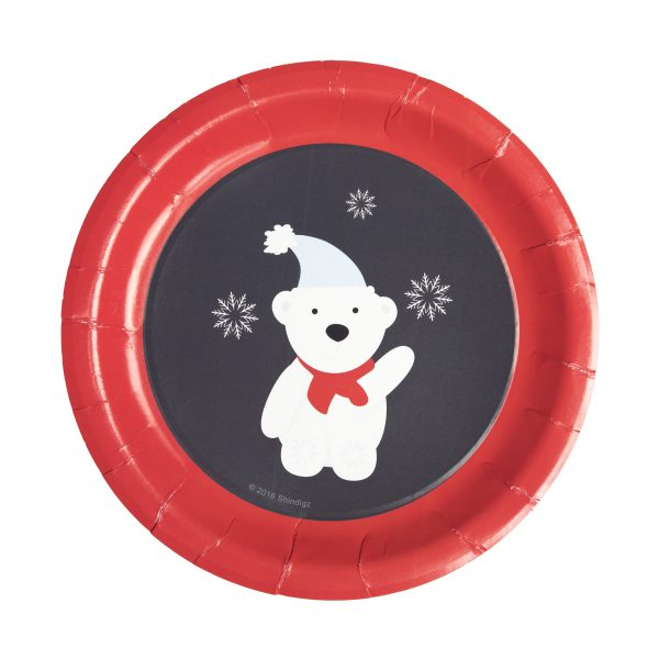 Polar Bear Paper Plates- Winter Wonderland