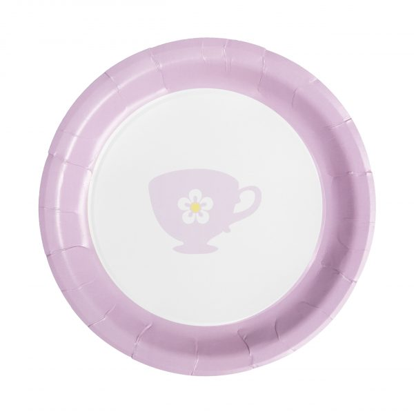 Pink Tea Party Paper Dinner Plates