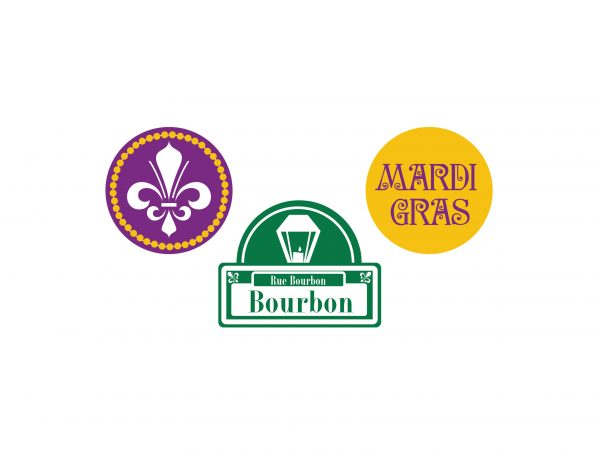 Mardi Gras Cupcake Toppers/Party Circles