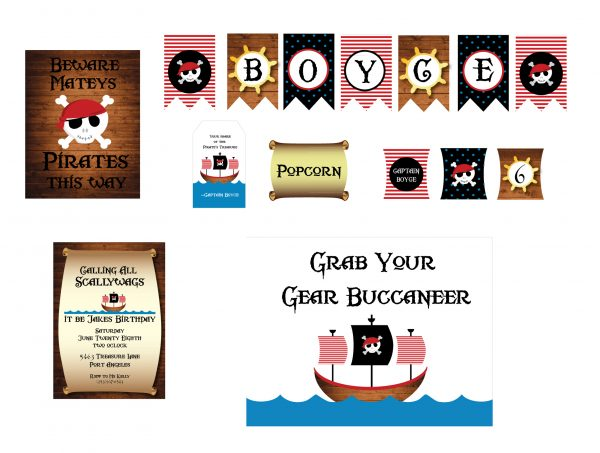 Pirate Birthday Party Package