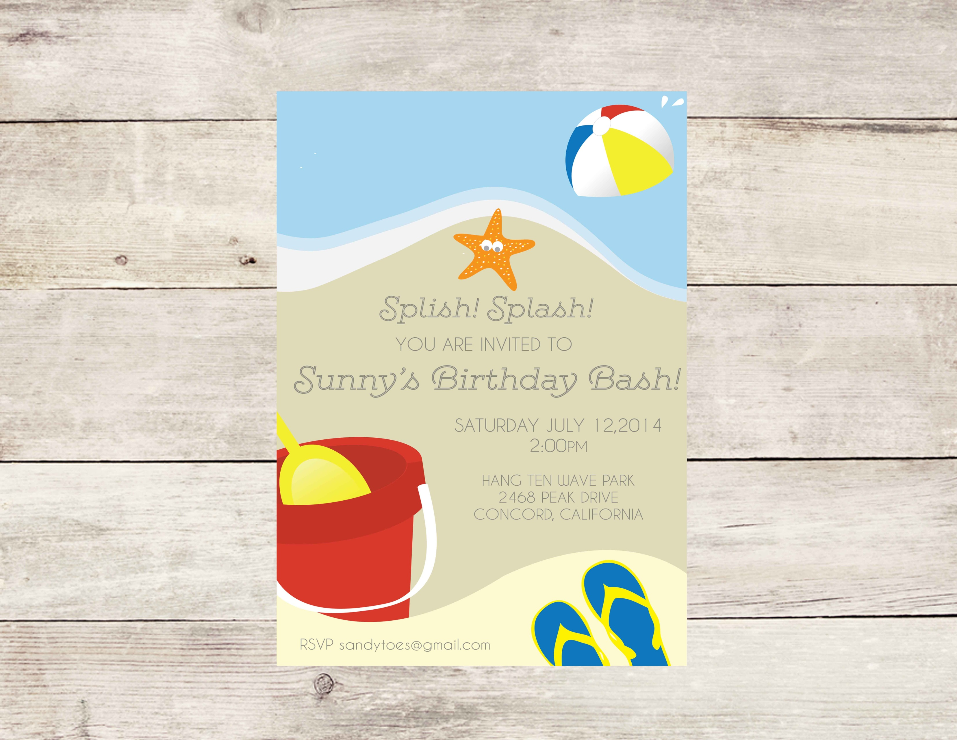 Beach Party Invitation - Crowning Details