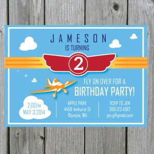 Planes Birthday Party Invitation