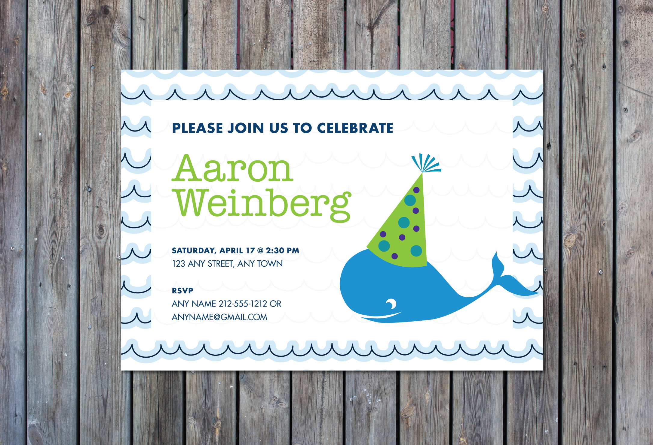 Boys whale birthday party invitation crowning details boys whale birthday party invitation stopboris Gallery