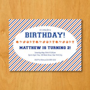 Sports Birthday Party Invitation