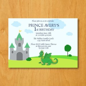 Dragon Birthday Party Invitation