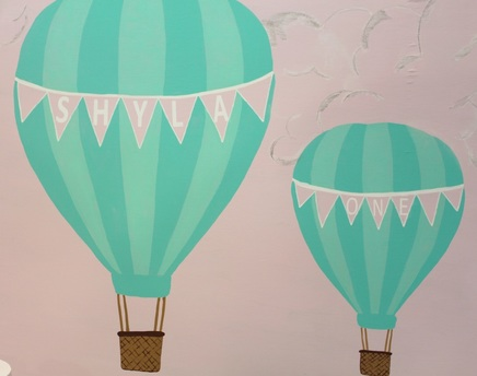 hot air balloon painted backdrop