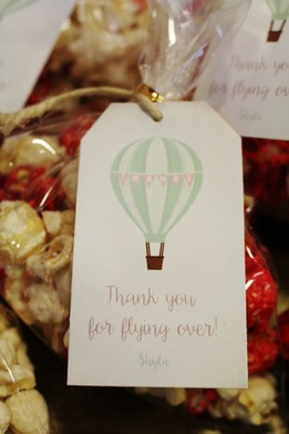 hot air balloon party favor tags