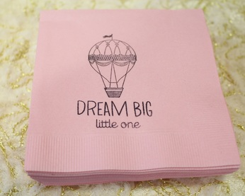 hot air balloon napkins