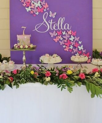 Butterfly Birthday Party Ideas- Stella's Turns 7