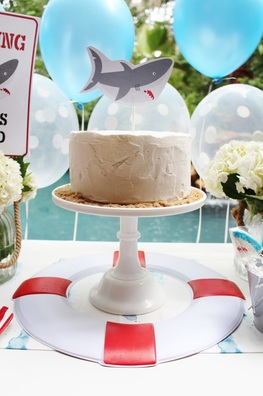 shark cake idea shark cake topper