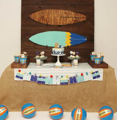 Surfer Party Ideas with a Vintage Twist