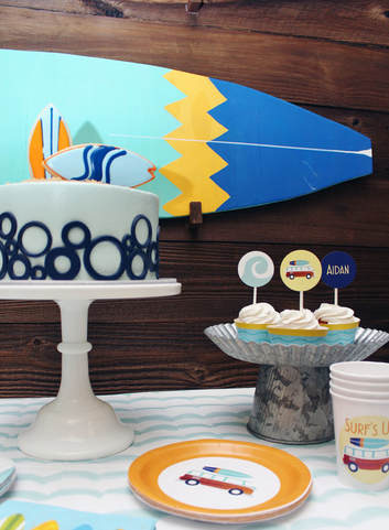 surfing party supplies