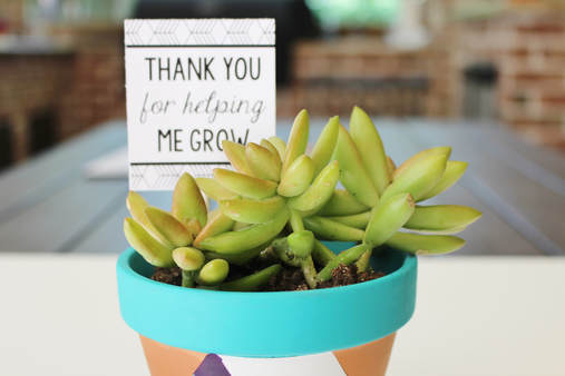 thank you for helping me grow gift tag