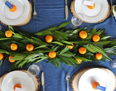 """Thankful for my Cuties""- A Citrus Inspired Friendsgiving Tablescape!!"