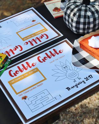 FREE Printable Thanksgiving Coloring Placemat & Blog Hop