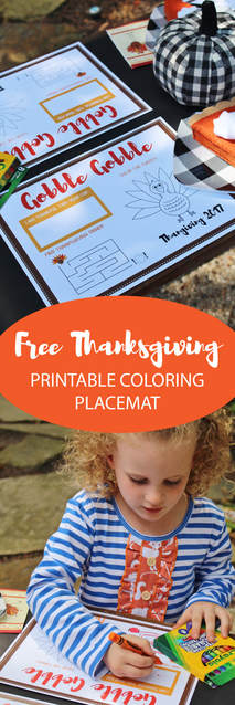 free thanksgiving printable coloring placemat