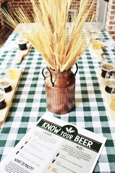Wheat Grass Centerpiece at a Beer Tasting Party