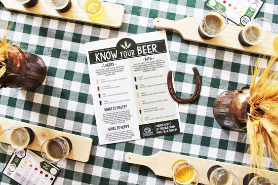 Beer Tasting Party Tablescape