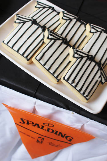 referee cookies for a basketball party