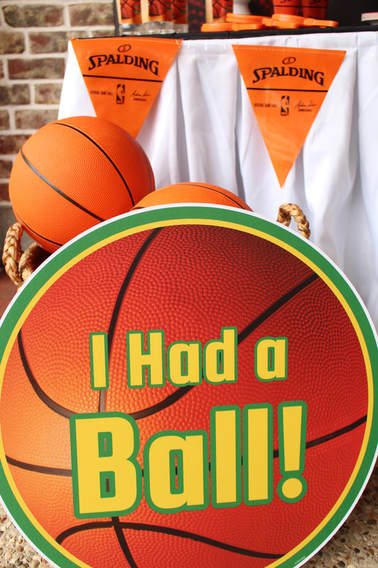 I Had a Ball Signage for Basketball Party Favors