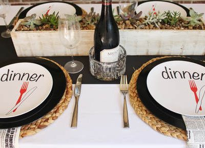 What's for Dinner? A Cozy, Fall Tablescape
