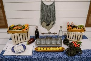farmhouse tablescape at a recipe exchange party